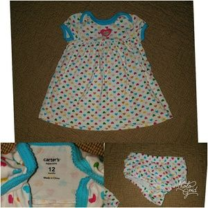 Colorful Heart Dress~ size 12 months
